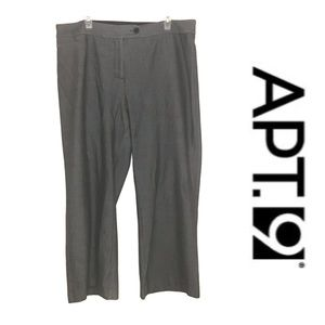 Apt. 9 Gray Pinstripe Career Slacks Dress Pants